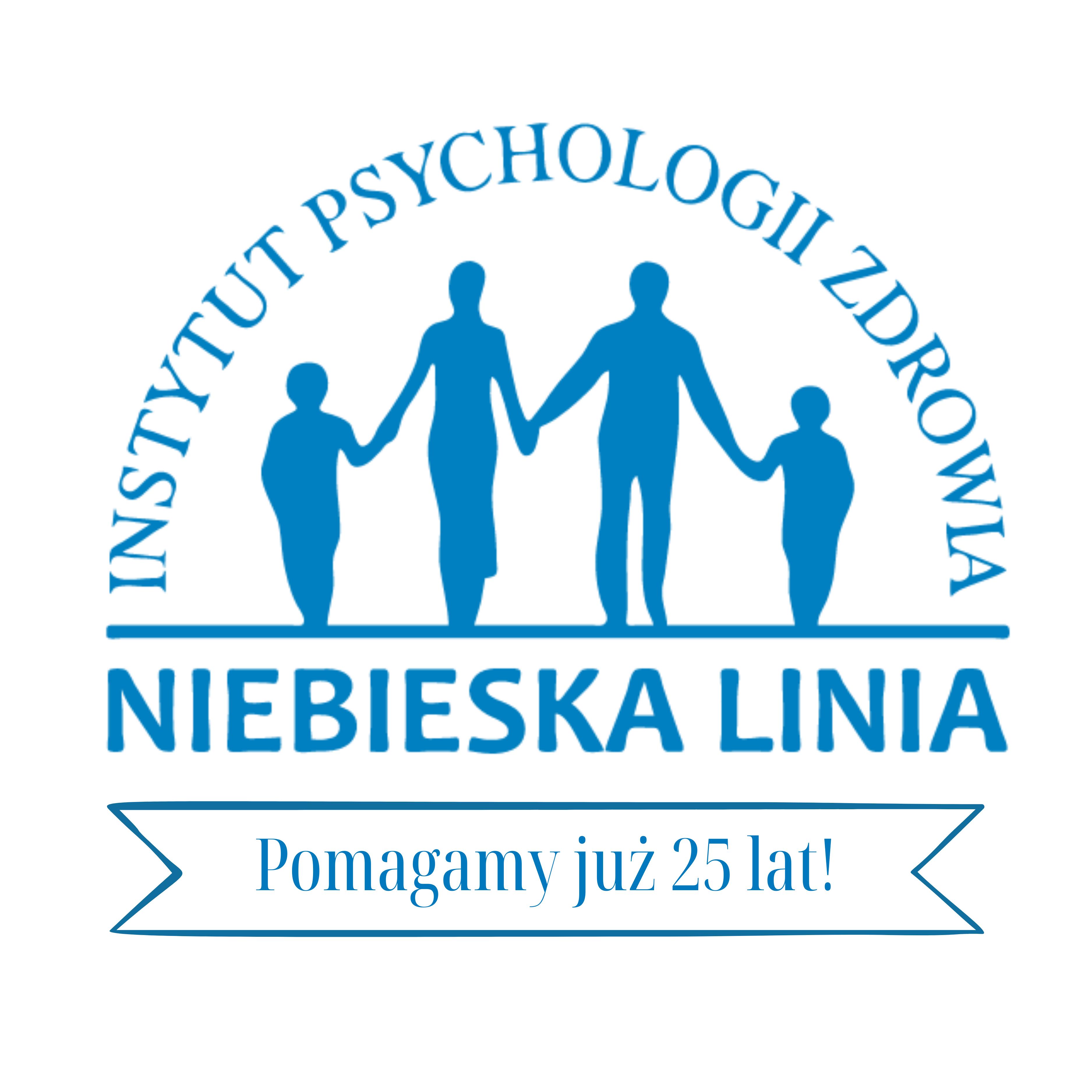 Logotyp Instytutu Psychologii Zdrowia Niebieska Linia
