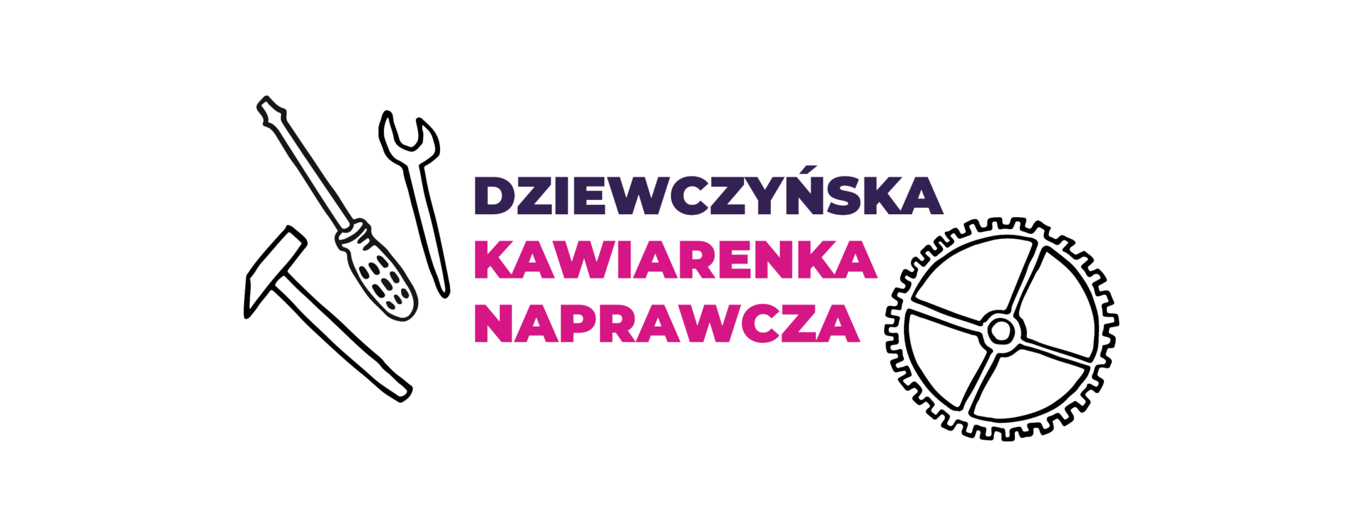Logotyp Dziewczyńskiej Kawiarenki Naprawczej