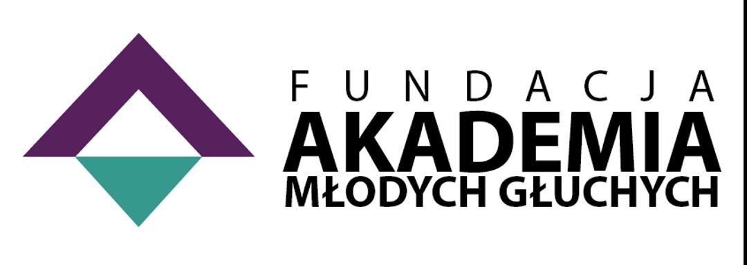 Logotyp Fundacji Akademia Młodych Głuchych
