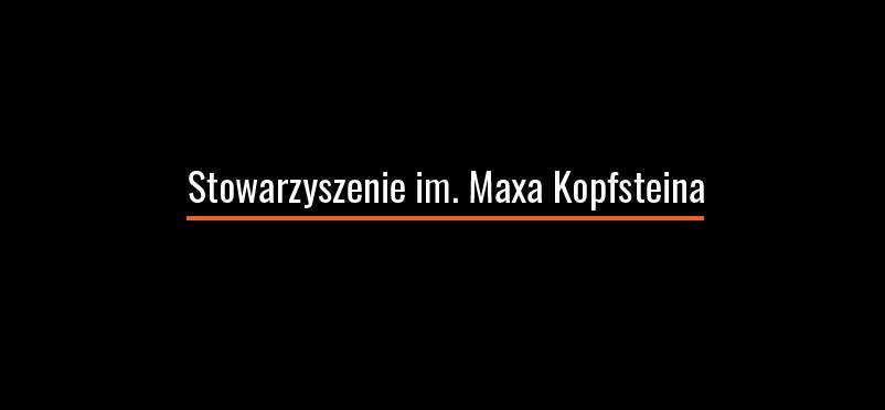 Logotyp Stowarzyszenia im. Maxa Kopfsteina
