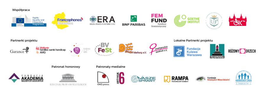 Logotypy partnerek projektu